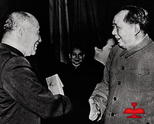 In 1959, Comrade Mao Zedong met Meng Tai, the famous model worker in China and old hero of Ansteel