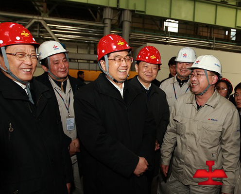 On December 12,2008,Comrade HuJintao visited Ansteel