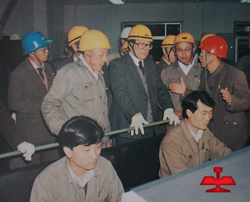 On October 27,1990, Comrade JiangZemin visited Ansteel.